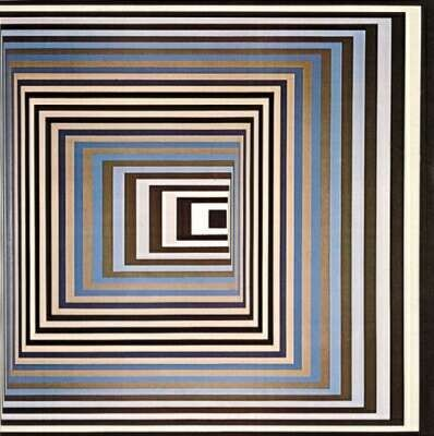 Blue Black, Victor Vasarely                                                                                                                                                     Plus