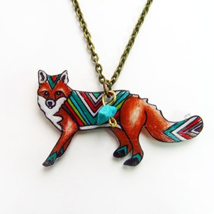 Chevron Fox Necklace now featured on Fab.