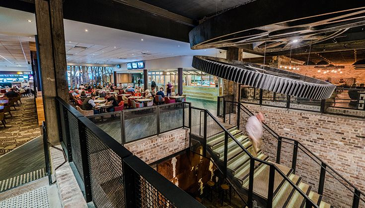 Factory, Pizza, Steak, Ribs Dining Area, Collegians Wollongong #food #decor #drinks