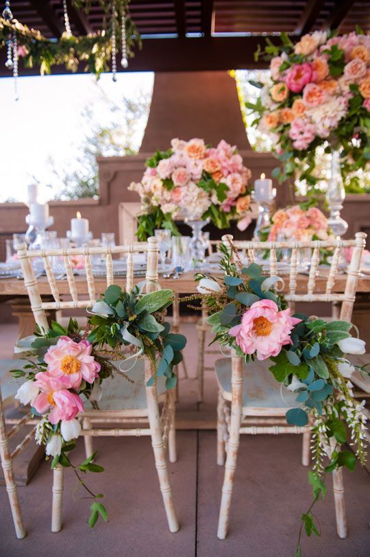 Photographer: Dapper Images; Adorable rustic chic wedding reception with pretty pink flowers;