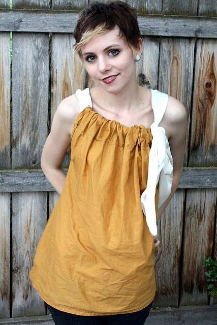 simple, diy shirtSummer Shirts, Sewing Projects, Easy, Pillowcases Dresses, How To, Sewing Machine, Diy Shirts, Howto, Versatile Shirts