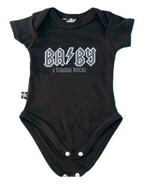 """Body """"BABY I wanna rock!"""" Disponible en nuestra tienda online http://shop.battlemetalstore.es/es/ninos/272-body-de-ninos.html #body #bebe #heavy"""