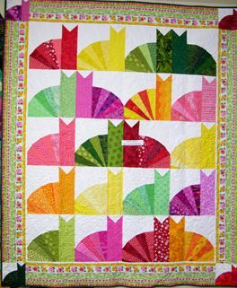 phatkats quilt Probably not for the easy list, but looks do-able, and perfect for a cat lover gift.