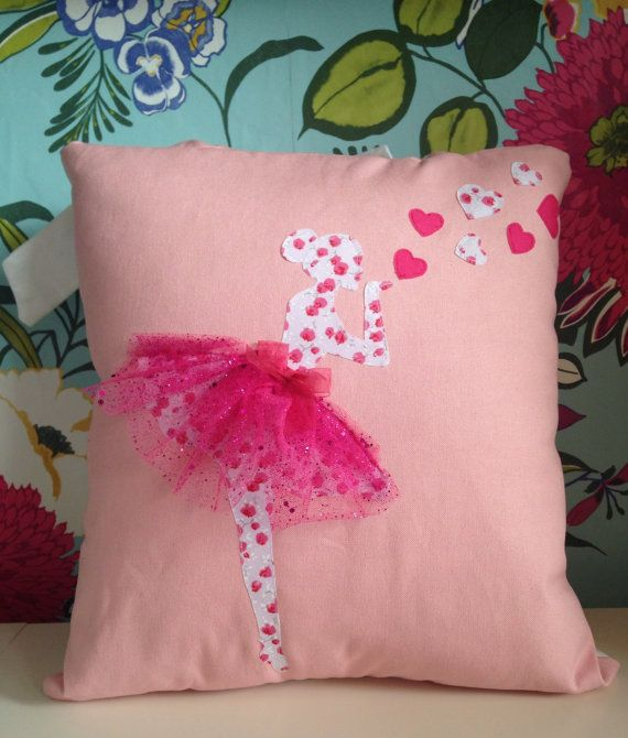 Ballerina ballet dancer cushion by TLBcrafthouse on Etsy