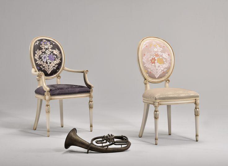 Charlotte chair & armchair. Designed by Venetasedie, inspired by luxury theatre. The Italian fine materials and manifacture. www.venetasedie.it