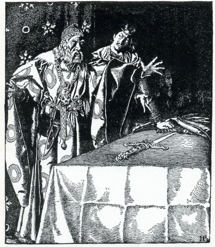 The Story of King Arthur and His Knights Sir Kay showeth the mystic sword unto Sir Ector.
