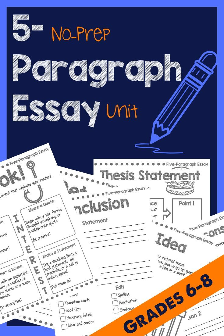Middle School Five Paragraph Essay Writing On Tolerance