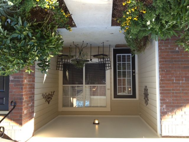 Clean look patio style Ivy Park Apartments