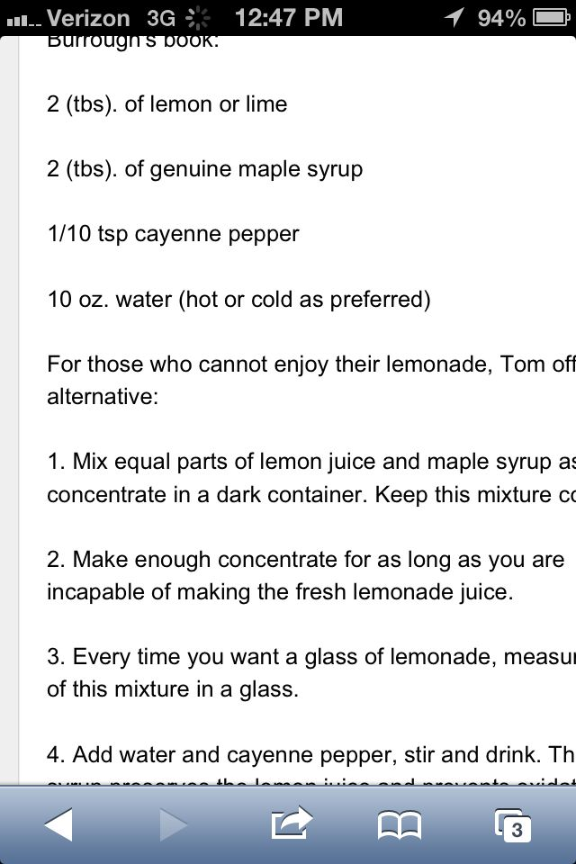 You May Have To Read This About Master Cleanse Recipe Blackstrap