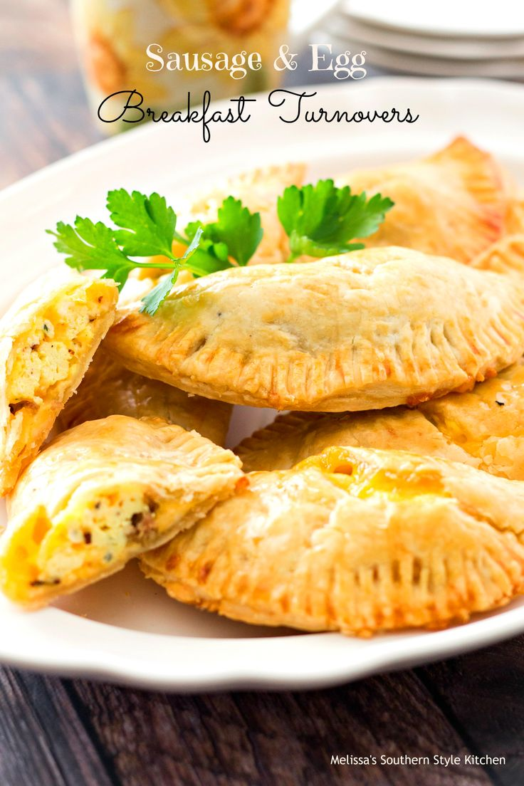 Sausage And Egg Breakfast Turnovers – These turnovers are stuffed with scrambled eggs, sausage and plenty of gooey cheese. Terrific for breakfast on the go these savory hand pies will thrill your breakfast eaters and they're guaranteed to come back for more.