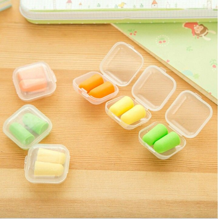 4 Pairs Soft Foam Ear Plugs Protector Travel Sleeping Noise Reduction Anti Noise Snore Soundproof Earplugs With Small Case H041