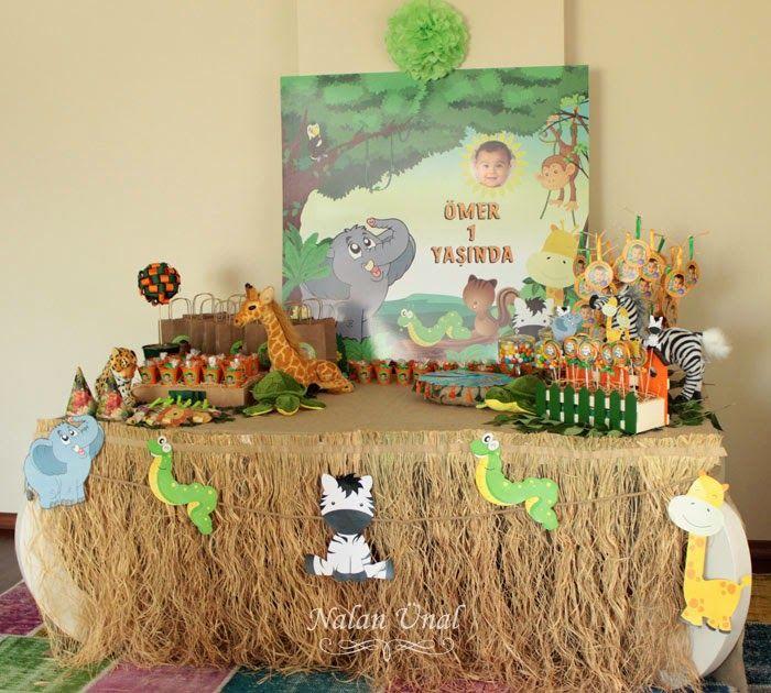 Safari/Orman Temalı Doğumgünü Partisi