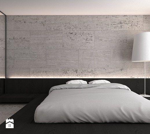 Dom jednorodzinny X / Tarnowskie Góry. - Średnia sypialnia małżeńska, styl minimalistyczny - zdjęcie od A2 STUDIO pracownia architektury