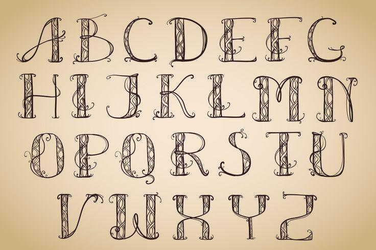 Alphabet Art Deco capital | Design Bundles