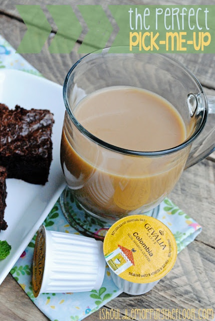 Coffee Infused Brownie Recipe!  Gevalia Single Serve Coffee Now Available #CupOfKaffe #cbias