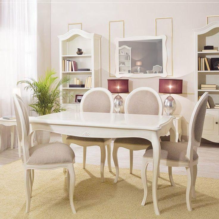 Mesa de comedor extensible provenzal paris blanca mesas de comedor pinterest - Muebles romanticos ...