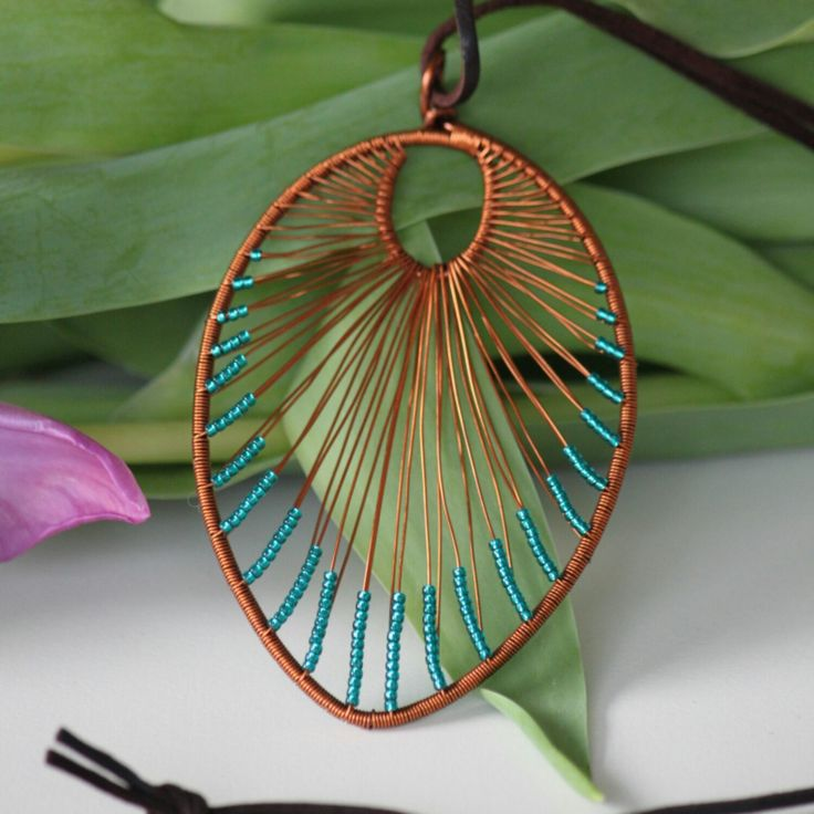 Perfect for spring! Check my new photos! Leaf shaped pendant.