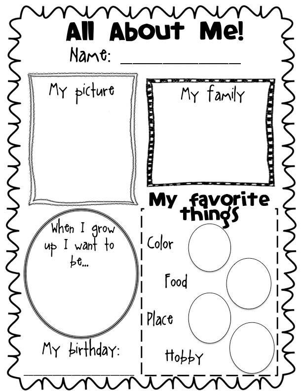 17 best images about all about me on pinterest getting for About me template for students