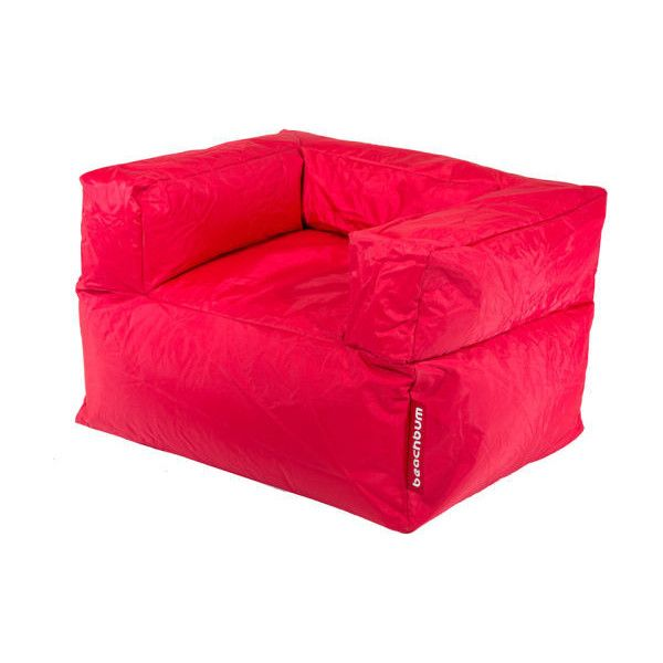 Beachbum Arm Chair Bean Bag   Red ($270) ❤ Liked On Polyvore Featuring Home
