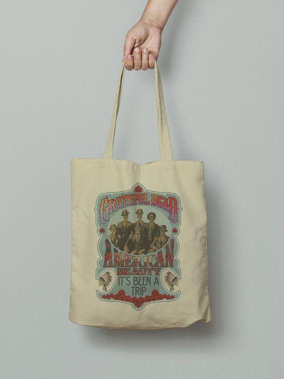 The Grateful Dead Tote Bag, Market bag, Fabric grocery bag, Shoulder strap, Unique design and gift