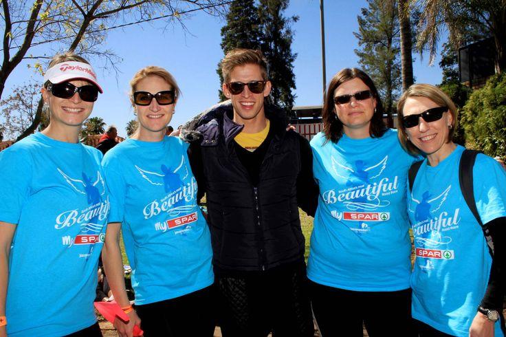 Spar celebs at the Spar Ladies Race