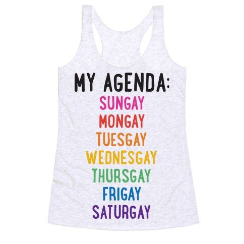 Celebrate your sassy, LGBT pride each and every GAY of the week with this gay…