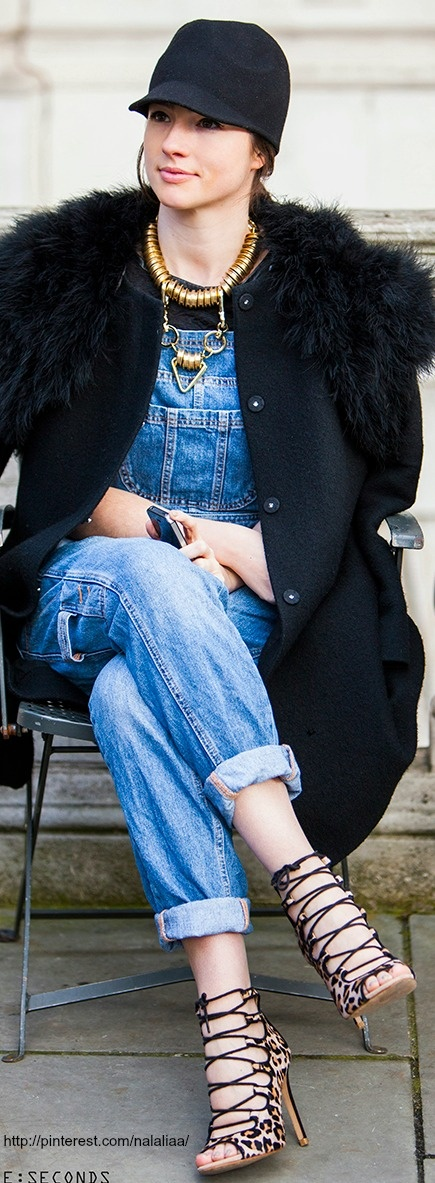 ....i love the confidence and the randomness. mix of casual but high fashion