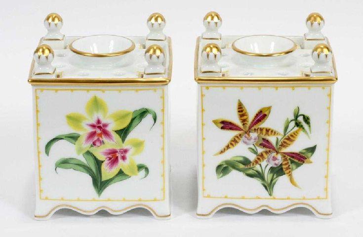 William yeoward, limoges porcelain jardinieres