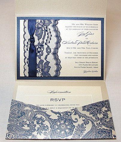 Lace Wedding Invitations Lace Wedding Invite por LavenderPaperie1