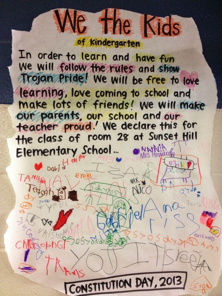 Howywood Kindergarten Great Ideas Constitution Day Classroom