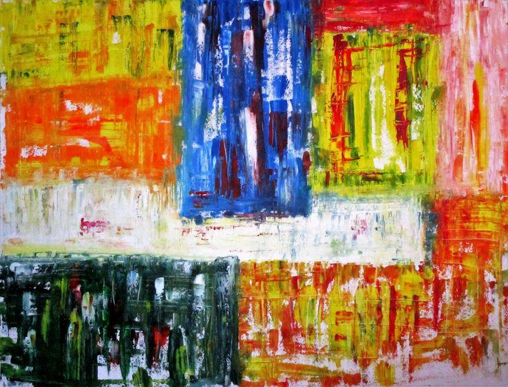"For Sale: multi color 2 , on canvas  by mina gavala | $380 | 32""w 24""h | Original Art | https://www.vangoart.co/mina-gavala/multi-color-2-on-canvas @VangoArt"