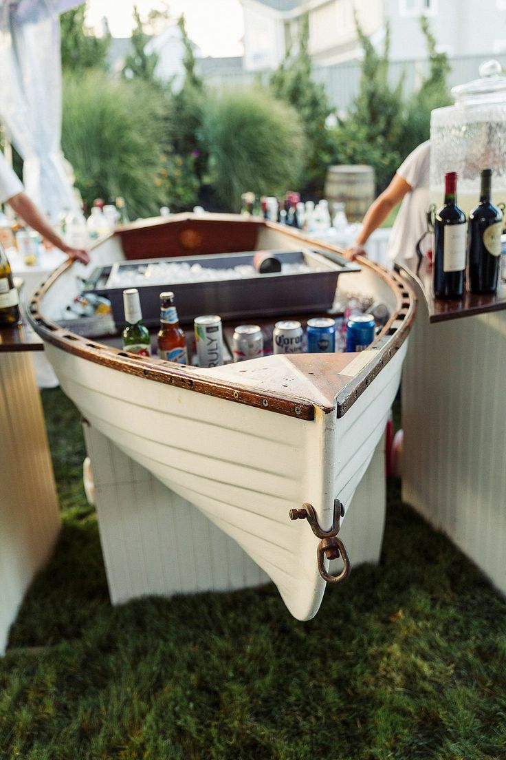 Boat bar. Coastal wedding decor. Coastal Maine Wedding in Cape Neddick   Hailey & Joel   Maine Wedding Photographers
