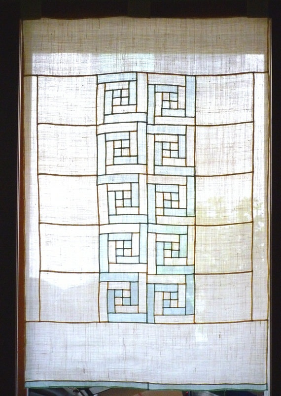 Patterns that are reminiscent of traditional Korean door patterns. Explore various other patterns to create print or embroidery other than traditional bojagi. [Banul | etsy.com]