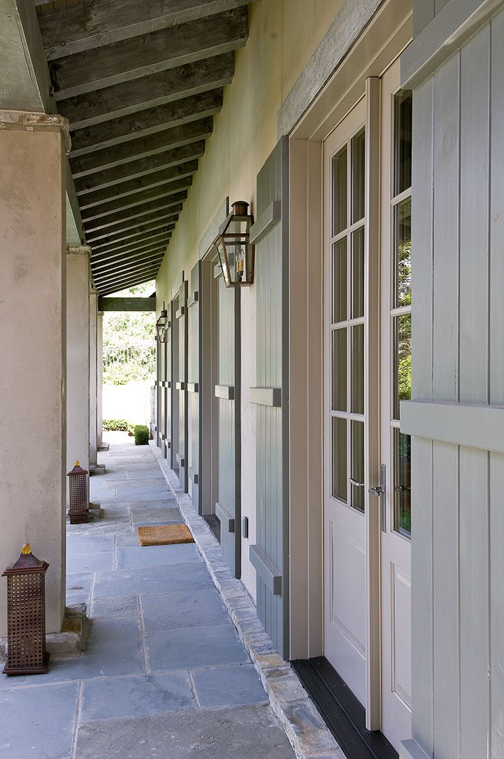 exterior shutters french doors..maybe make a little more rustic