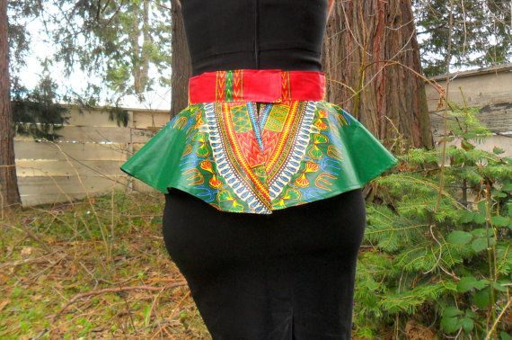 Spice up any outfit with this Peplum belt! Band measures 2.5 inches wide and skirt is 8 inches, can be altered to fit your preferences. Please include