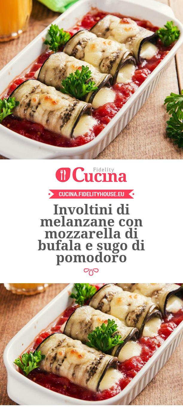 Involtini di #melanzane con #mozzarella di bufala e sugo di #pomodoro