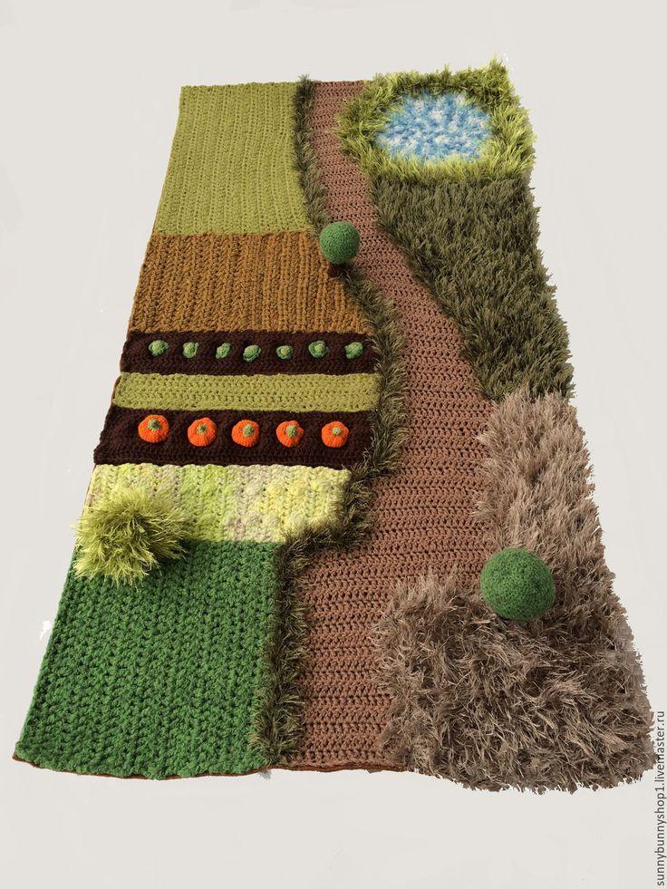 Купить Большой игровой коврик Ферма - развитие мелкой моторики, тактильная игрушка