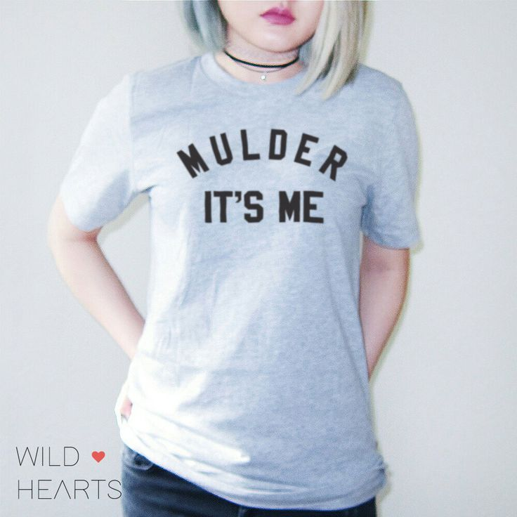 Mulder It's Me T Shirt in Grey for Women X-Files by WildHeartsUSA