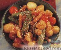 Фото к рецепту: Пикантные жареные овощи