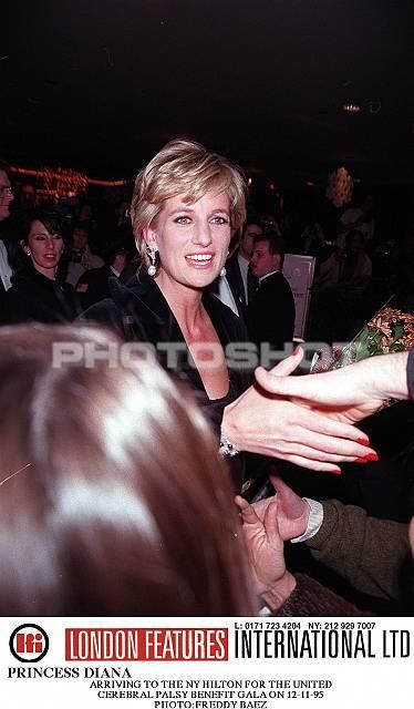 December 11, 1995: Princess Diana at the 41st annual United Cerebral Palsy Awards gala in New York City.