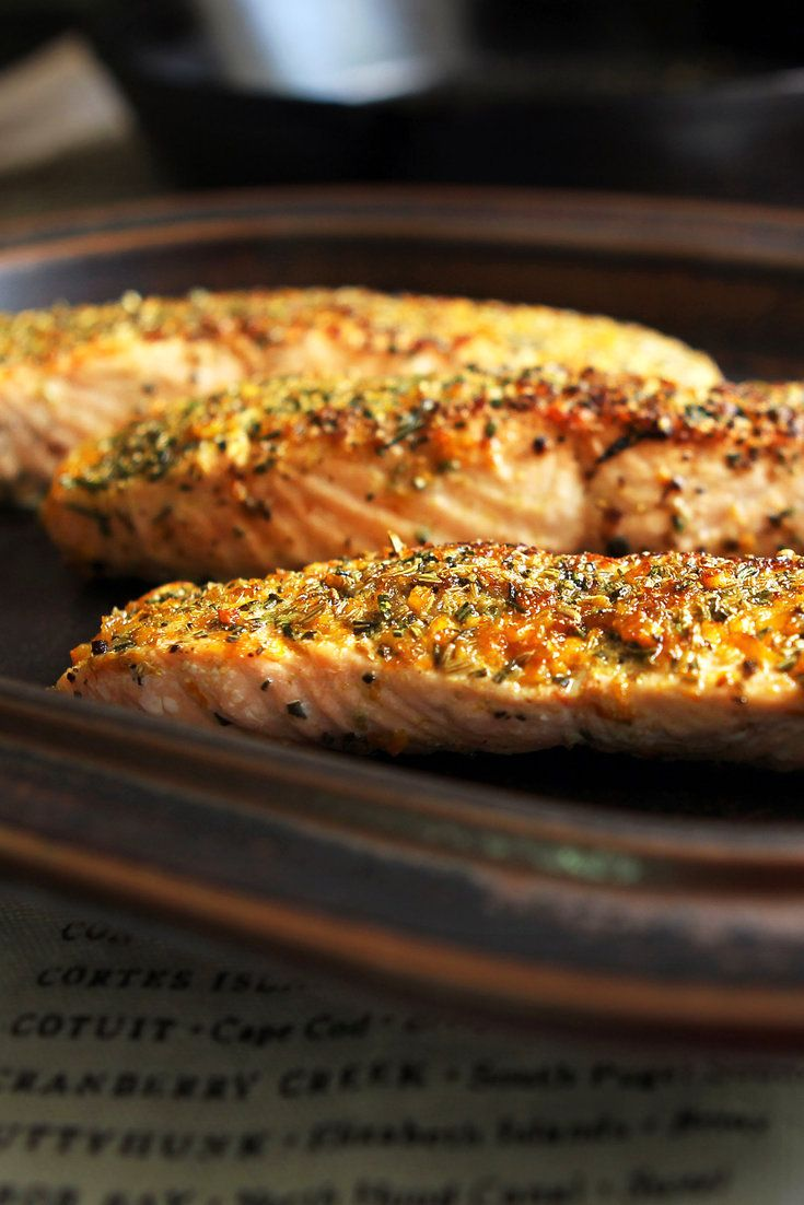 NYT Cooking: In 1998, Mark Bittman and Katy Sparks, then chef of Quilty's in Manhattan, developed this easy recipe for salmon encrusted with fennel seeds, rosemary and orange zest. It's a simple though sophisticated twist on weeknight salmon.<br/><br/>A couple things to keep in mind when making this dish: Make sure you use fillets of equal size. Buy skinned salmon fillet from the thick%2...