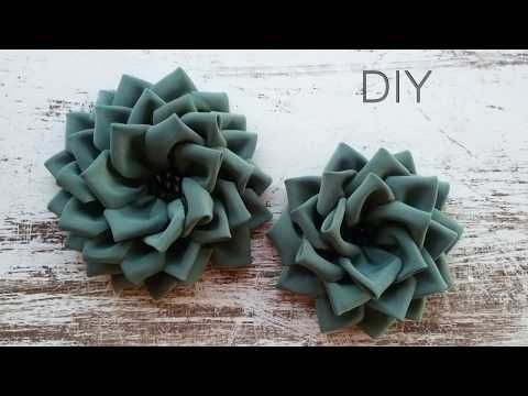 DIY How to make a Fabric Flower - YouTube