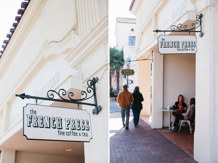 The French Press. One of Santa Barbara's best spots for a good cup of coffee.