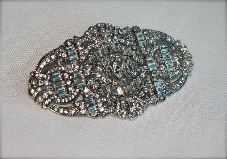 Art Deco Crystal Comb Rhinestone Comb Hair by GracefullyGirly, $42.00