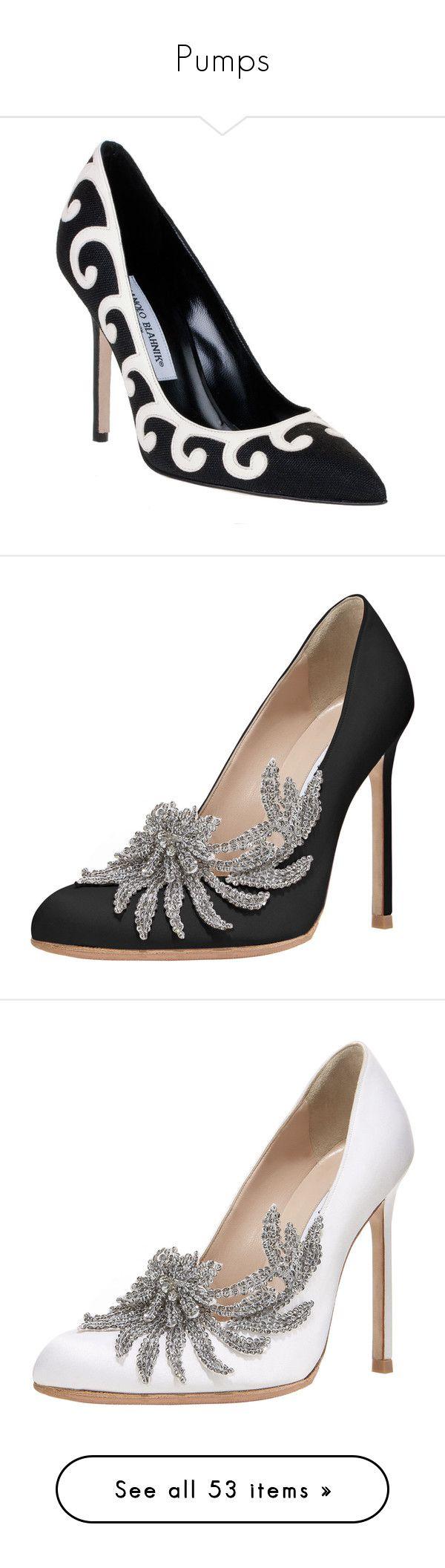 """Pumps"" by kleinervampier ❤ liked on Polyvore featuring shoes, pumps, heels, black, high heels, black and white shoes, high heel pumps, black white pumps, high heeled footwear and high heel court shoes"