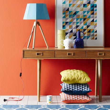 geometrics vignette - Miss Wood 3 Drawer Desk in Natural