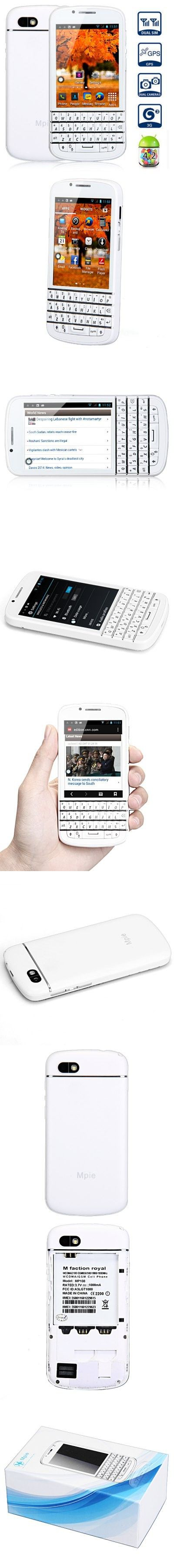 Mpie MP108 Android 4.2 3G Qwerty Keyboard Smartphone with 3.2 inch Screen MTK6572 Dual Core 4GB ROM GPS Bluetooth Dual Cameras