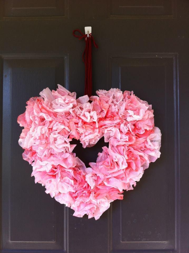 coffee filter valentine's day crafts