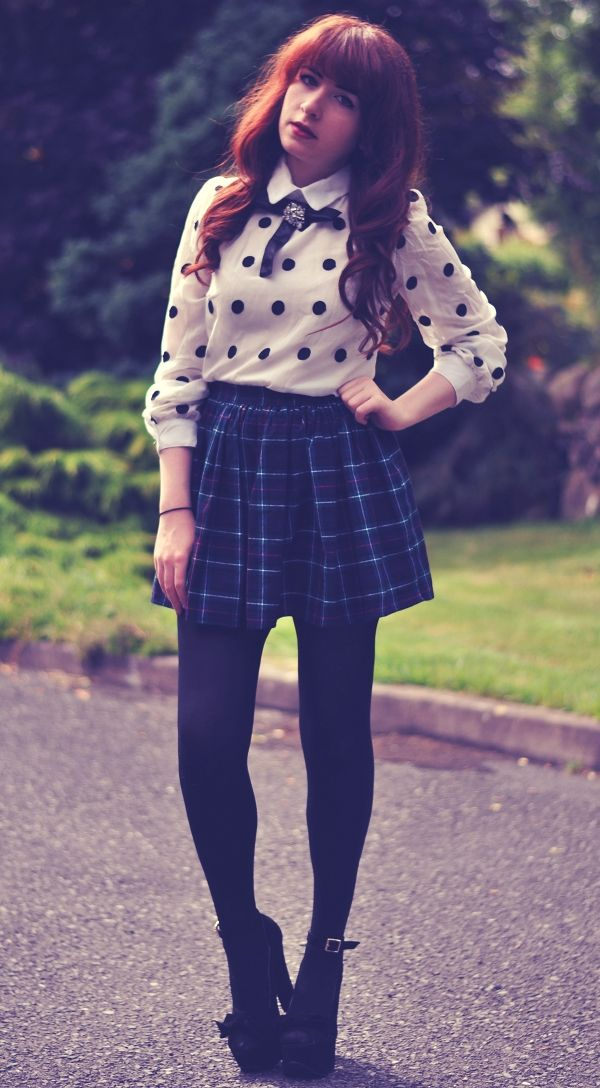 Kitten as a Cat: Cute Winter Outfit American Apparel Plaid ...
