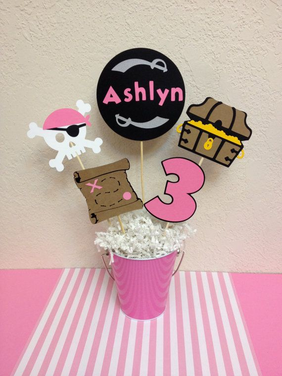 Hey, I found this really awesome Etsy listing at https://www.etsy.com/listing/225165826/girls-pirate-party-birthday-centerpiece